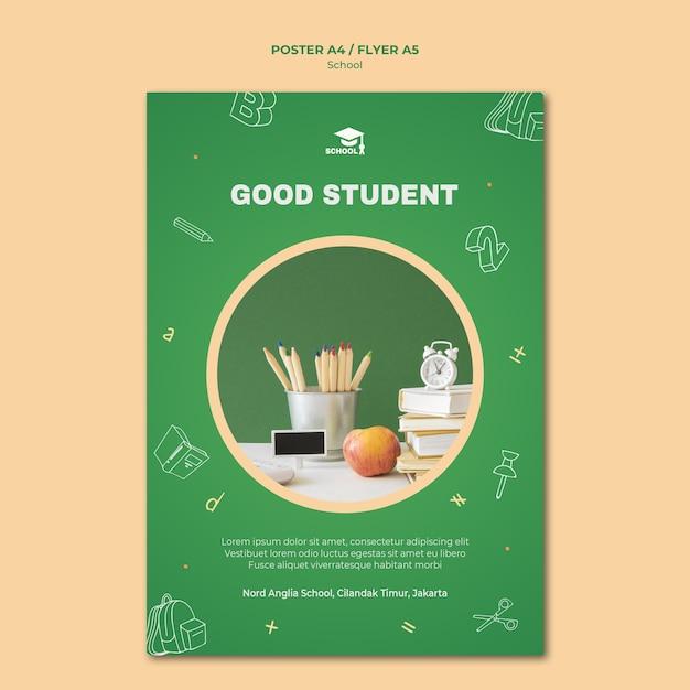Back to school poster vorlage Kostenlosen PSD