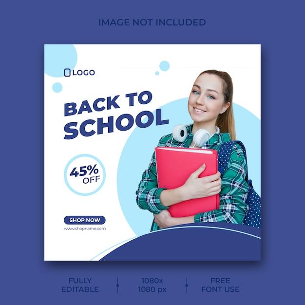 Back to school social media post banner vorlage Kostenlosen PSD