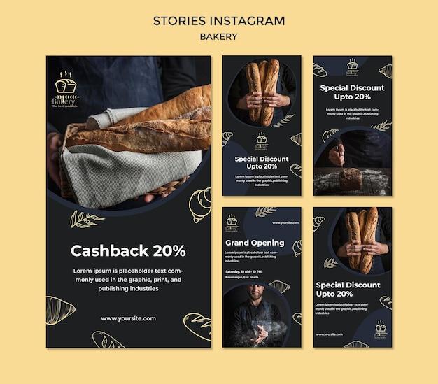 Bäckerei ad instagram geschichten vorlage Premium PSD
