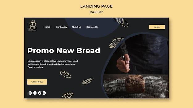 Bäckerei anzeige landingpage vorlage Premium PSD