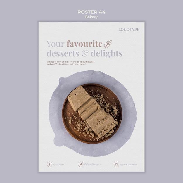 Bäckerei anzeige poster vorlage Kostenlosen PSD