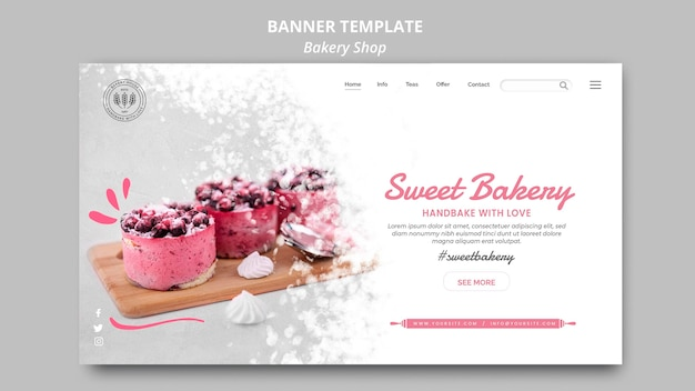 Bäckerei-banner-thema Kostenlosen PSD