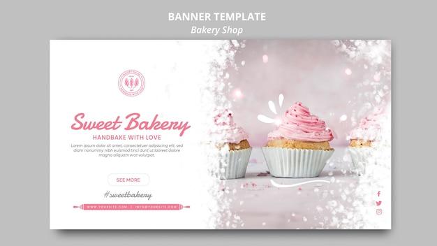 Bäckerei-banner-vorlage Kostenlosen PSD