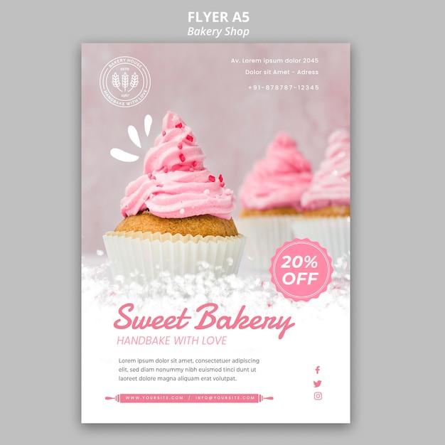 Bäckerei flyer vorlage Kostenlosen PSD