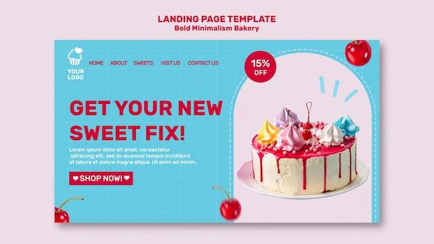 Bäckerei landing page vorlage Premium PSD