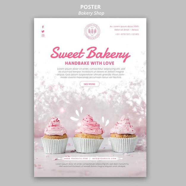 Bäckerei-plakatstil Kostenlosen PSD
