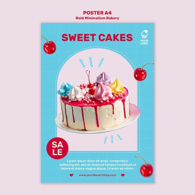 Bäckerei rabatt poster vorlage Kostenlosen PSD