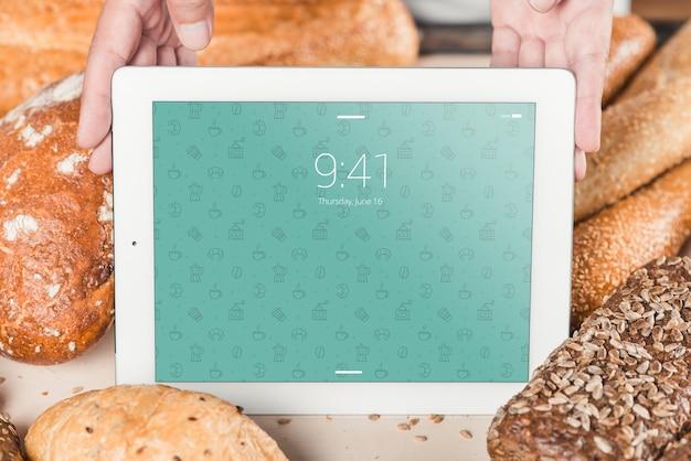 Bäckereimodell mit tablette Kostenlosen PSD