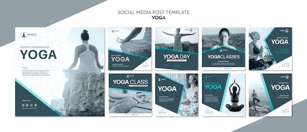 Balance dein leben yoga klasse social media post Kostenlosen PSD