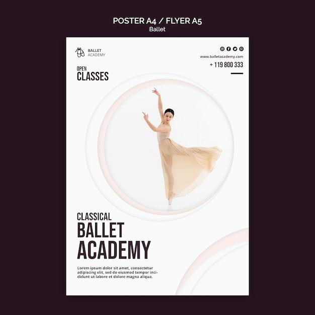 Ballett-konzeptplakatschablone Kostenlosen PSD