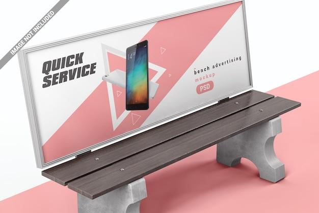 Bank mit display für werbemodell Premium PSD