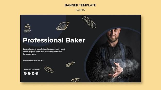 Banner bäckerei anzeigenvorlage Kostenlosen PSD