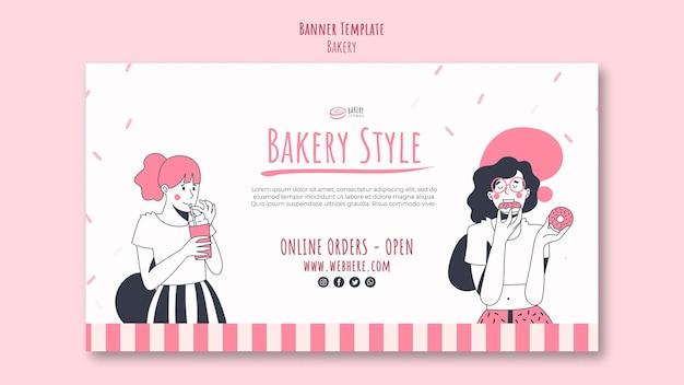 Banner der bäckerei-anzeigenvorlage Kostenlosen PSD