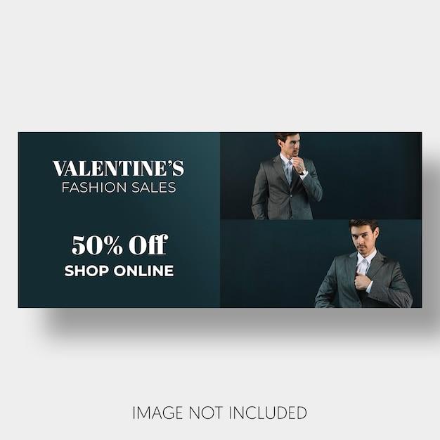 Banner schablonenverkauf valentinstag Kostenlosen PSD