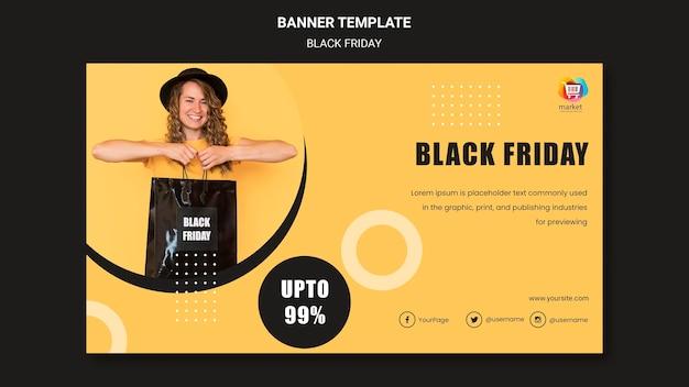 Banner schwarzer freitag vorlage Kostenlosen PSD