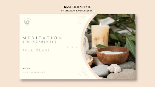 Banner-thema meditation und achtsamkeit Kostenlosen PSD