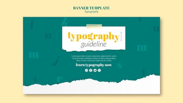 Banner typografie service-vorlage Kostenlosen PSD