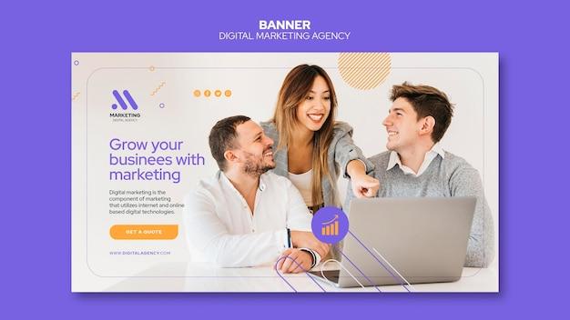 Banner-vorlage der agentur für digitales marketing Kostenlosen PSD