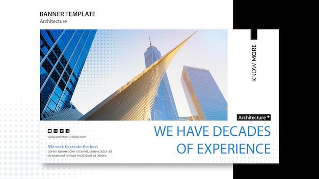 Banner-vorlage für das architekturkonzept Kostenlosen PSD