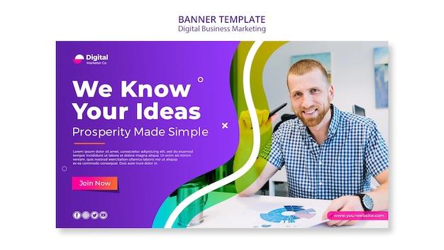 Banner-vorlage für digitales geschäftsmarketing Kostenlosen PSD