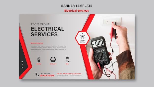 Banner-vorlage für elektrische dienstleistungen Kostenlosen PSD