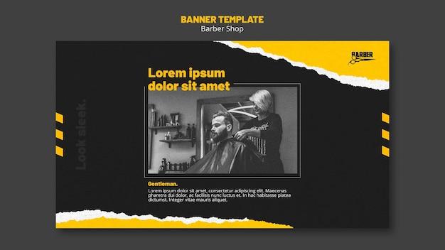 Banner vorlage für friseurgeschäft Kostenlosen PSD