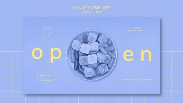 Banner vorlage konzept für candy shop Kostenlosen PSD