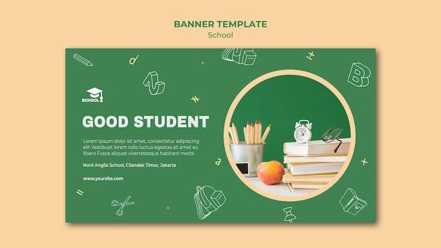 Banner zurück zur schule anzeigenvorlage Premium PSD