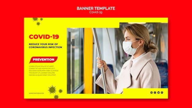 Bannervorlage zur verhinderung von coronavirus Kostenlosen PSD
