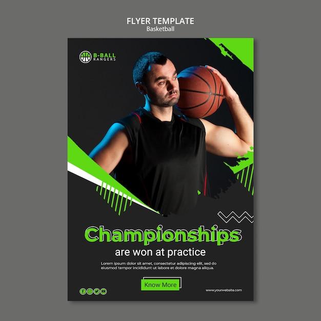 Basketball flyer vorlage konzept Kostenlosen PSD