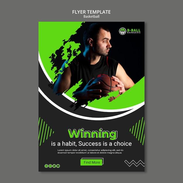 Basketball flyer vorlage Kostenlosen PSD