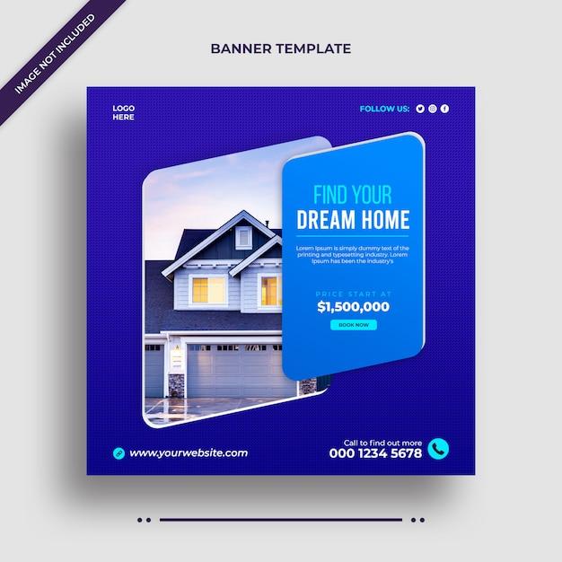 Bearbeitbare einfache minimalistische haus zum verkauf immobilien instagram banner promotionen Premium PSD