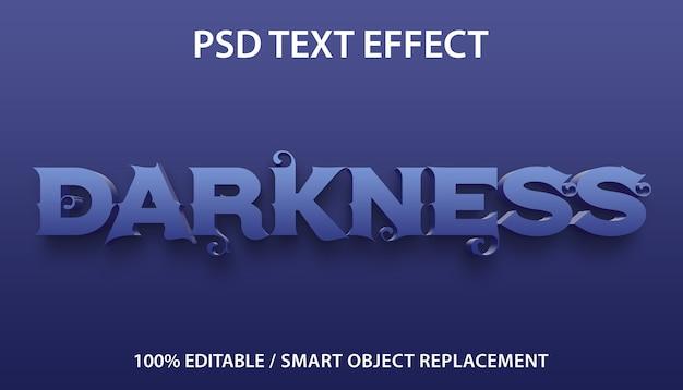 Bearbeitbare texteffekt-dunkelheitsvorlage Premium PSD