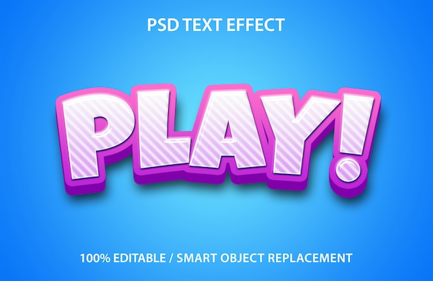Bearbeitbare texteffektwiedergabe Premium PSD