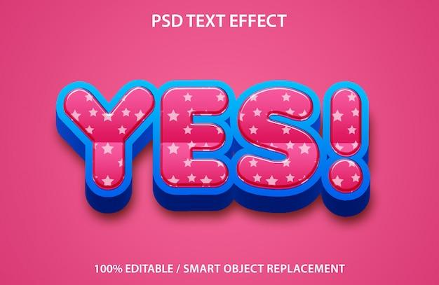 Bearbeitbarer texteffekt ja premium Premium PSD