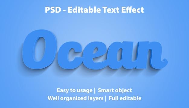 Bearbeitbarer texteffekt ocean premium Premium PSD