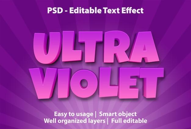 Bearbeitbarer texteffekt ultraviolett Premium PSD