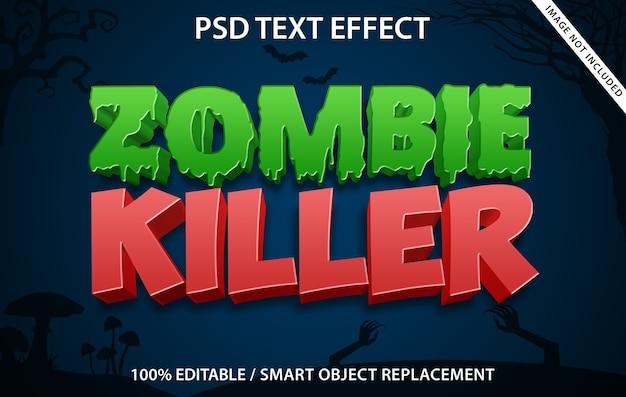Bearbeitbarer texteffekt zombie killer Premium PSD