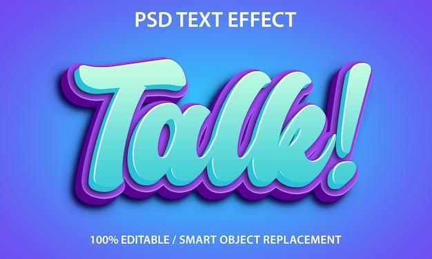 Bearbeitbarer texteffekt Premium PSD