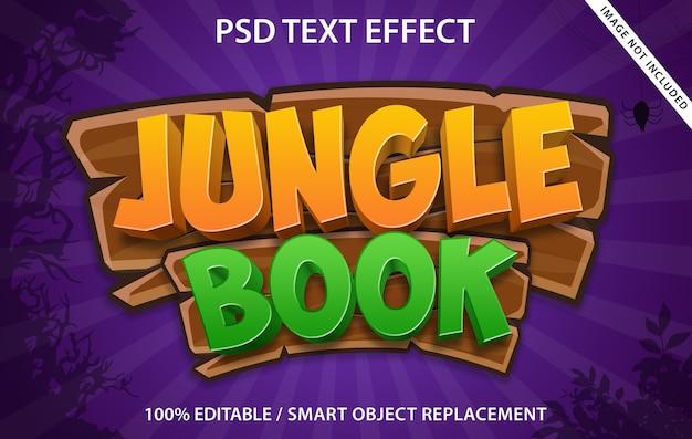 Bearbeitbares dschungelbuch mit texteffekten Premium PSD