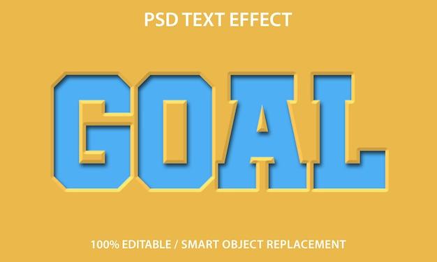 Bearbeitbares texteffektziel Premium PSD