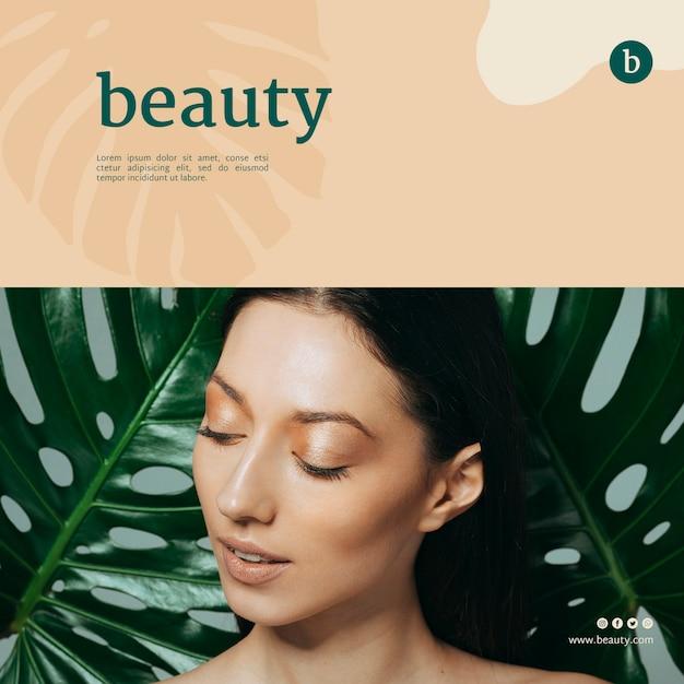 Beauty banner vorlage mit einer frau Kostenlosen PSD