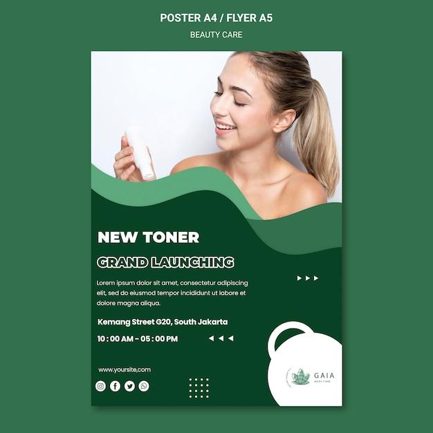 Beauty care poster vorlage Kostenlosen PSD
