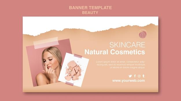 Beauty-konzept banner vorlage Kostenlosen PSD