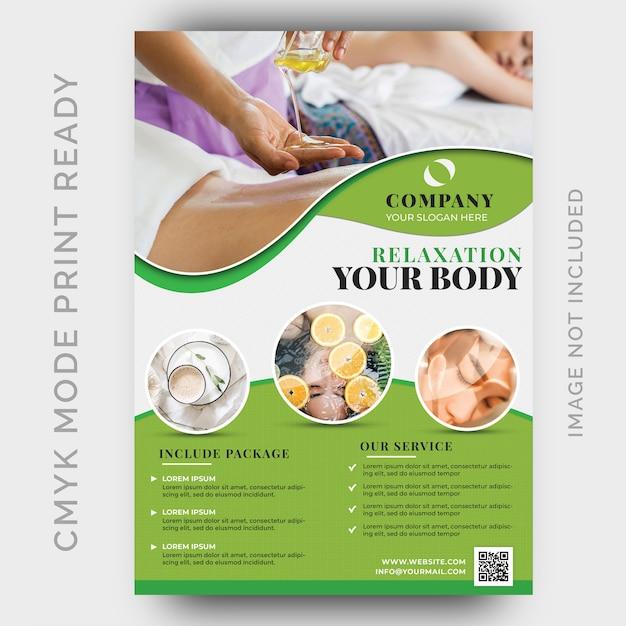 Beauty & spa flyer vorlage Premium PSD