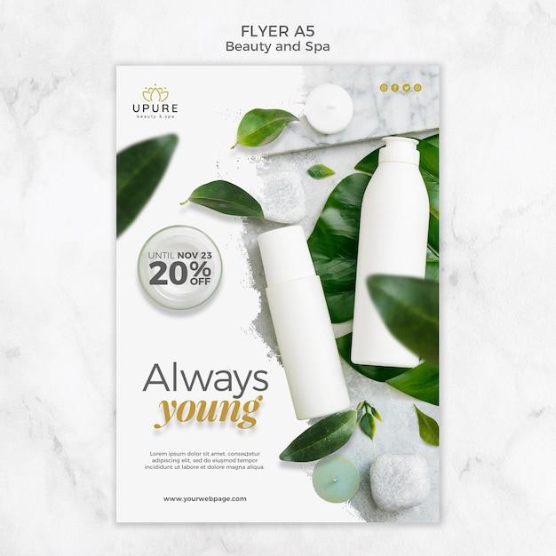 Beauty- und spa-flyer-vorlage Kostenlosen PSD