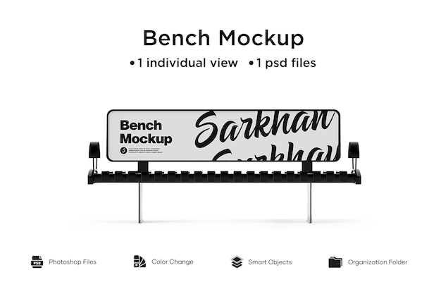 Bench advertising mockup isoliert Premium PSD