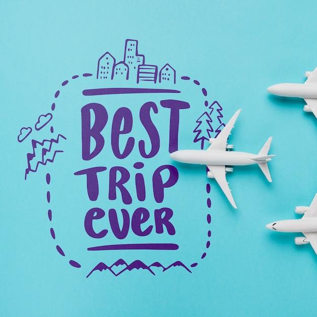 Beste reise aller zeiten, schriftzug über das reisen Kostenlosen PSD