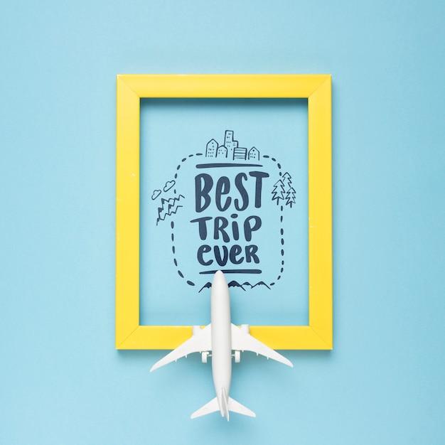 Beste reise überhaupt, motivbeschriftungszitat für reisendes konzept der feiertage Kostenlosen PSD