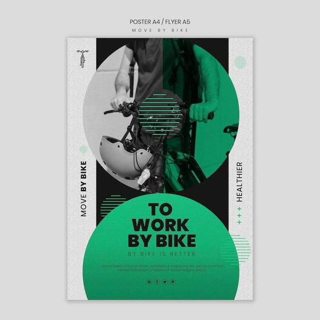 Bewegen sie sich durch fahrradplakatdesign Kostenlosen PSD
